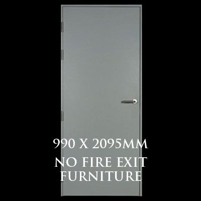 990 x 2095mm Blank Single Personnel Door (No Fire Exit Hardware)