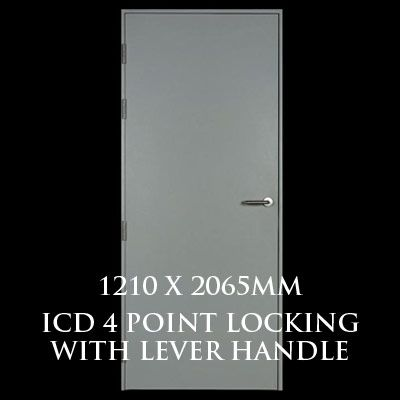 1210 x 2065mm Blank Single Personnel Door (ICD 4 Point Locking Lever Handle)