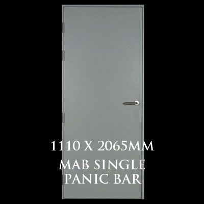 1110 x 2065mm Blank Single Personnel Door (MAB Single Panic Bar)