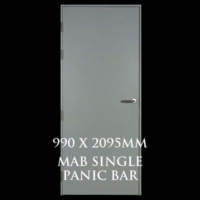 990 x 2095mm Blank Single Personnel Door (MAB Single Panic Bar)