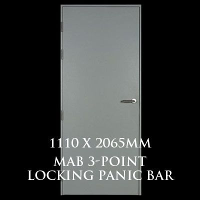 1110 x 2065mm Blank Single Personnel Door (MAB 3 Point Locking Panic Bar)