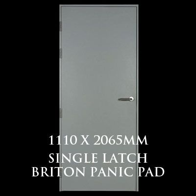 1110 x 2065mm Blank Single Personnel Door (Single Latch Briton Panic Pad)