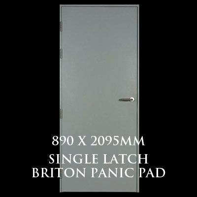 890 x 2095mm Blank Single Personnel Door (Single Latch Briton Panic Pad)