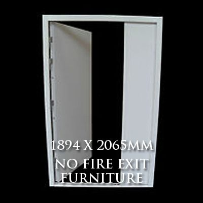 1894 x 2065mm Blank Double Personnel Door (No Fire Exit Hardware)