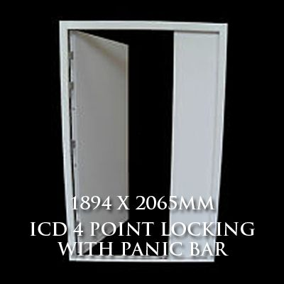 1894 x 2065mm Blank Double Personnel Door (MAB 3 Point Locking Panic Bar)