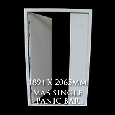 1894 x 2065mm Blank Double Personnel Door (MAB Single Panic Bar)