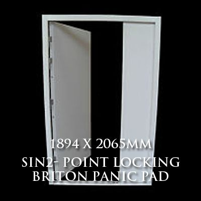 1894 x 2065mm Blank Double Personnel Door (Sin 2 Point Locking Briton Panic Pad)