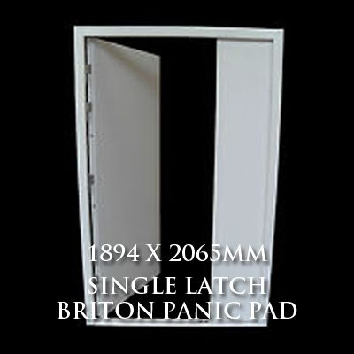 1894 x 2065mm Blank Double Personnel Door (Single Latch Briton Panic Pad)