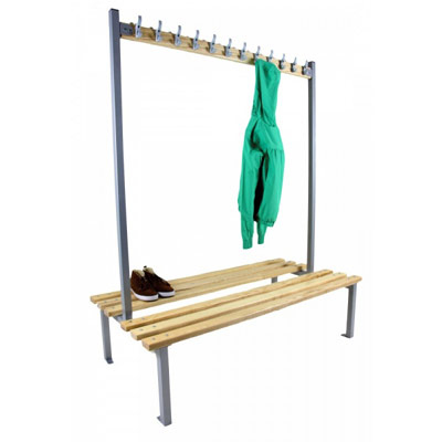 Double Sided Drying Room Benches and Hooks