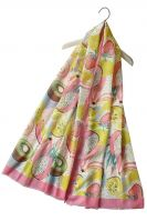 Happy - Summer Fruits Print Scarf