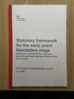 Statutory Framework For The Early Years And Foundation Stage