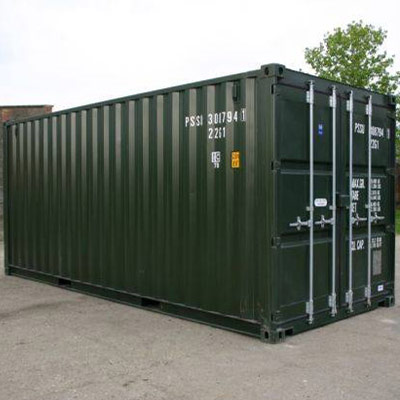 20ft Green RAL6007 One-Trip (Lock Box Fitted) in Felixstowe