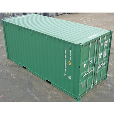 20ft Green RAL6028 One-Trip (Lock Box Fitted) in Southampton