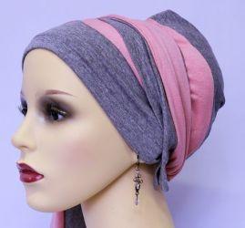 ELIARE headwear GREY stripe colour tails colour variations AQUA CORAL PEACH NAVY BLACK