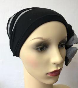 ELIARE headwear BLACK , STRIPE colour tails colour variations AQUA CORAL GREY TAUPE PEACH