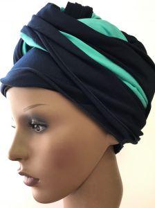 ELIARE headwear NAVY, STRIPE colour tails colour variations AQUA CORAL GREY TAUPE PEACH