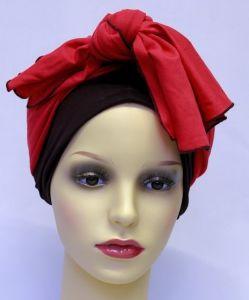 ELIARE headwear BLACK , block colour tails colour variations AQUA CORAL GREY TAUPE PEACH