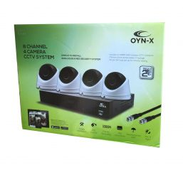 Qvis OYN-X 1080N 8 Channel 1TB CCTV Kit with 4 x AHD 1080P Dome Cameras