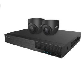 Ony-x NVR Kit 4 Channel 1TB c/w 2 x 2MP Fixed Turret Cameras Grey