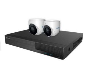 Ony-x NVR Kit 4 Channel 1TB c/w 2 x 2MP Fixed Turret Cameras White