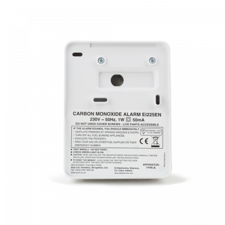 Aico Ei225EN Mains Powered Carbon Monoxide Alarm