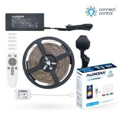 Aurora AOne Connect AU-A1BTCWSK1 Bluetooth 5m RGBCX LED Strip Lamp Starter Kit