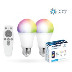 Aurora AOne Connect AU-A1BTGECWK Bluetooth 8W RGBCX E27 Screw GLS LED Lamp Starter Kit