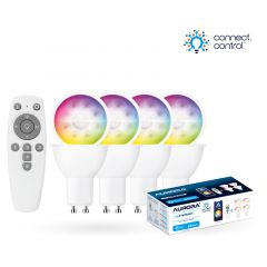 Aurora AOne Connect AU-A1BTGUCWK Bluetooth 5W RGBCX GU10 LED Lamp Starter Kit