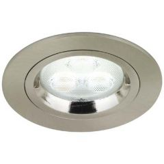 Aurora AU-DLM356SN GU10 Die Cast Fixed Downlight Satin Nickel