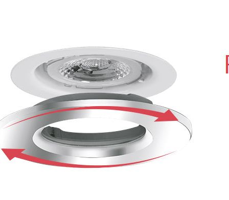 Aurora AU-BZ600PC Polished Chrome Fixed Downlight Bezel