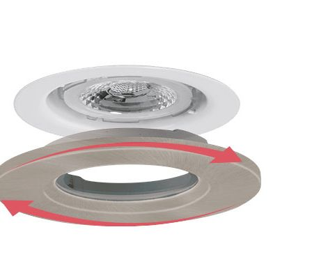 Aurora AU-BZ600SN Satin Nickel Fixed Downlight Bezel
