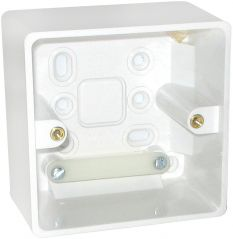 BG 877 Nexus Moulded White 1 Gang Surface Box 50mm