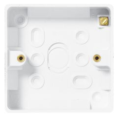 BG 893 Nexus Moulded White 1 Gang Surface Box 19mm