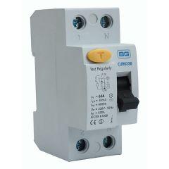 BG CUR6330 63A 30mA 2 Pole RCD AC