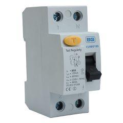 BG CUR80100 80A 100mA 2 Pole RCD AC