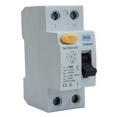 BG CUR8030 80A 30mA 2 Pole RCD AC