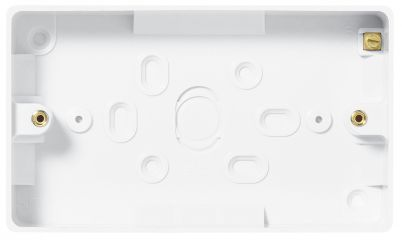 BG 892 Nexus Moulded White 2 Gang Surface Box 32mm