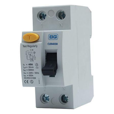 BG CUR4030 40A 30mA 2 Pole RCD AC
