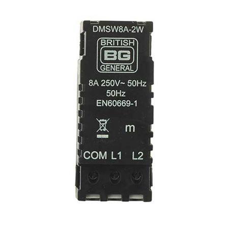 BG DMSW8A-2W Push On/Off 2 Way Dummy Dimmer Module