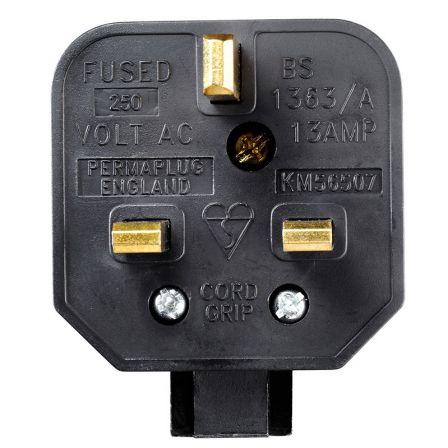 BG Masterplug HDPT13B 13A Heavy Duty Fused Plug Black