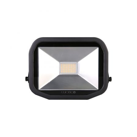 BG Luceco LFS30B150-02 38W Black Slimline Guardian LED Floodlight Daylight
