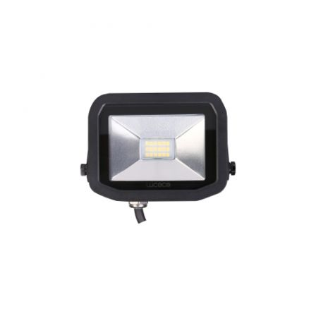 BG Luceco LFS6B150-02 8W Black Slimline Guardian LED Floodlight Daylight