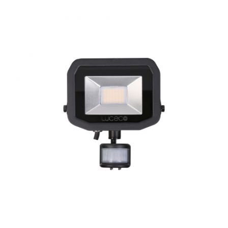 BG Luceco LFSP18B150-02 22W Black Slimline Guardian PIR LED Floodlight Daylight