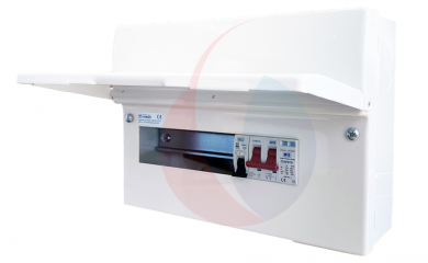 BG CFUSW08SPD 18th Edition 8 Way Consumer Unit c/w 100A Main Switch, SPD & 32A MCB