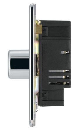 BG Flatplate Screwless FPC81P Polished Chrome 1 Gang 2 Way Dimmer
