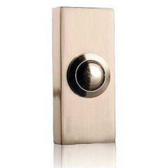 Byron 2204BN Brushed Nickel Wired Bell Push Surface Mounted