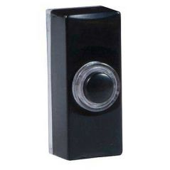 Byron 7720 Illuminated Black Plastic Wired Bell Push Surface Mounted