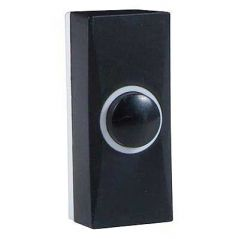 Byron 7900 Black Plastic Wired Bell Push Surface Mounted