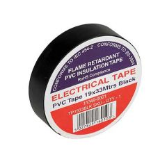 Flame Retardant PVC Insulation Tape 19x33m Black