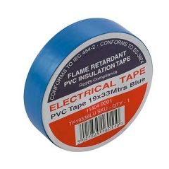 Flame Retardant PVC Insulation Tape 19x33m Blue